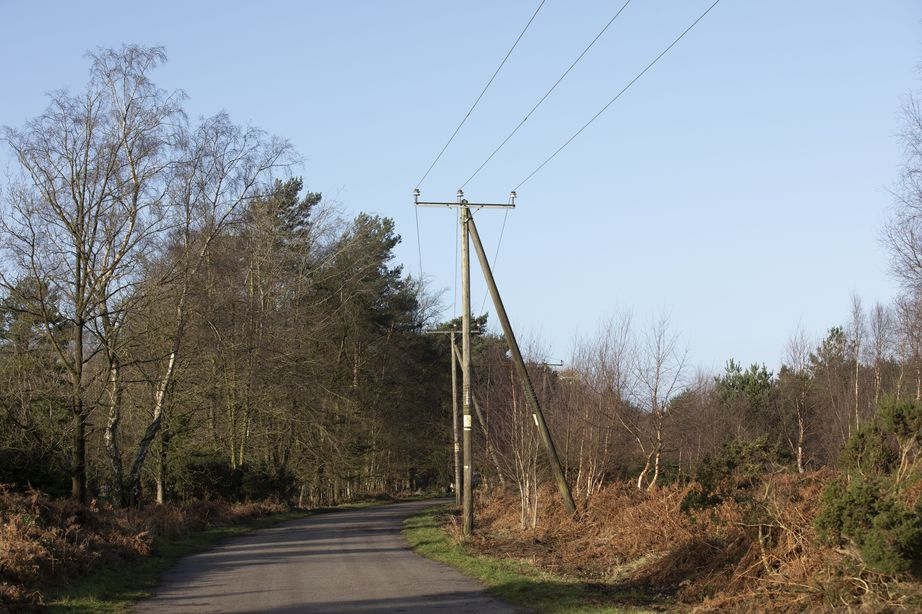 AONB with overhead power lines